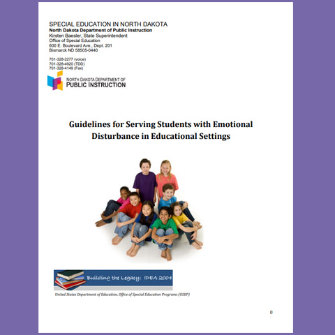 Guidelines for Serving Students with Emotional Disturbance in Educational Settings(Revised 2016)
