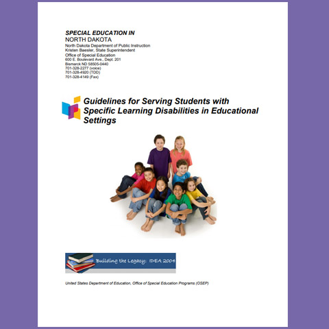 Guidelines for Serving Students with Specific Learning Disabilities in Educational Settings