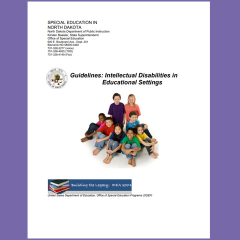 Guidelines: Intellectual Disabilities in Educational Settings