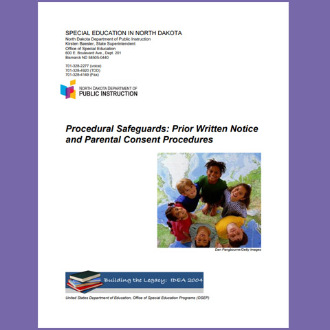 Procedural Safeguards: Prior Written Notice and Parental Consent Procedures