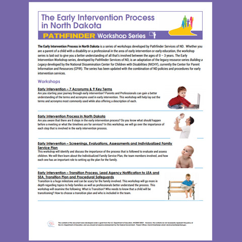The Early Intervention Process in North Dakota - Workshop Series