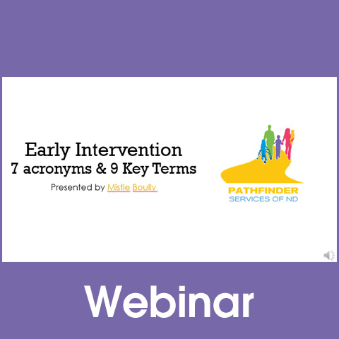 Early Intervention: 7 Acronyms & 9 Key Terms