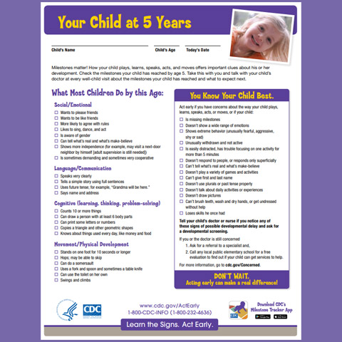 Your Child at 5 Years (Checklist)