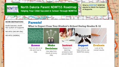 Screen capture of NDMTSS Roadmap website