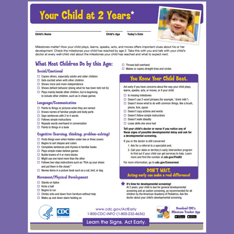Your Child at 2 Years (Checklist)